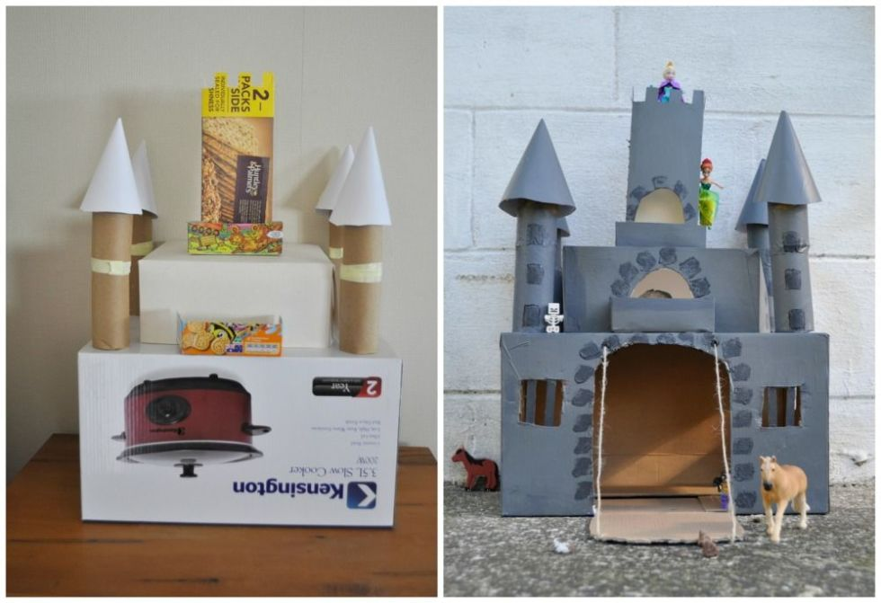 18 for Castle made out of cardboard boxes