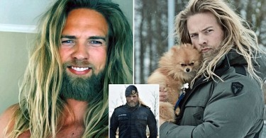 "Pic shows:  Lasse Matberg.nnMeet the modern day Norwegian Viking that is capturing hearts the world over on Instagram.nnLasse Matberg, 30, is a Royal Norwegian Navy who would give Thor a run for his money with his beefy build, manly beard and long blonde hair.nnThe modern-day Viking is racking up Instagram followers at an incredible pace.nnMatberg, from the south-western Norweigan city of Stavenger went from 500 followers to 100,000.nnHis rise in popularity might have something to do with him checking all the boxes in his photos. There is everything from him cuddling a puppy to cutting wood in the forest with the caption: ""Hit the #gym? You mean chopping #wood? #norwegian #lifestylebrand.""nnAnd it seems that In short his long blonde hair, love for animals and bulging naturally built muscles are hitting the spot.nnMatberg recently spoke about the comments he received on his Instagram account.nnHe said:""They want to marry me or ask me to make them pregnant.""nnUser ha_karim wrote: ""You look like an angel.""nnWhilst rubidiopotasio commented: ""Are you from this world??? You're an Asgardian [an inhabitant of the fictional realm of Asgard from the Marvel Comics universe], aren't you?""nnMatberg is the latest sensation being obsessed over by netizens. Other recent targets include convict-turned model Jeremy Meeks and Harry Potter actor who played Neville Longbottom and recently grew quite splendidly out of his awkward puppy fat stage.nn(ends)nn          n"