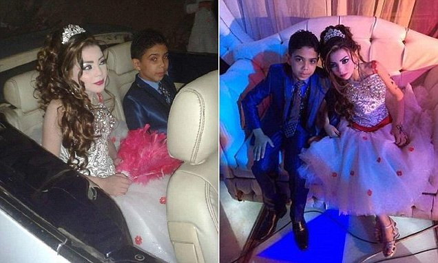 Egypt Child Marriage Omar and Gharam  Taken from https://www.washingtonpost.com/news/worldviews/wp/2016/10/22/pictures-of-two-egyptian-children-engaged-to-be-married-trigger-outrage-once-again/  Taken from open web pages, links below taken without permission at the request of the Newsdesk, please legal before publishing. Washington Post credits 'Masrawy' but unable to find pics/story on Masrawy
