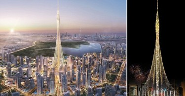 MANDATORY CREDIT: *see individual credits/REX Shutterstock Strictly editorial use only. No stock, books, merchandising or advertising Mandatory Credit: Photo by Emaar/REX/Shutterstock (5668239k) Plans for the new 'world's tallest' tower have been unveiled by developers Emaar New tallest tower in the world unveiled, Britain/Dubai  - Apr 2016 FULL COPY: http://www.rexfeatures.com/nanolink/s9qe Plans for the new 'World's Tallest' tower have been unveiled... Emaar Properties, the leading Dubai-based global property developer and builder of the world's tallest building, Burj Khalifa, have unveiled plans to build a new tower, which will be the largest in the World. The Tower is anticipated to be slightly taller than the 2,716 ft high Burj Khalifa, the world's tallest building since 2009, and is projected to cost $1 billion (£700 million). Construction is planned to start in July 2016 with a four year construction programme. With a design inspired by the lily and traditional minaret towers, The Tower will serve as an architectural icon, ready for the Dubai World Expo in 2020. Around a reinforced concrete core, The Tower will have a slender glass and steel faÁade.