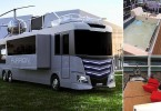 Furrion Elysium RV complete with jacuzzi and HELIPAD
