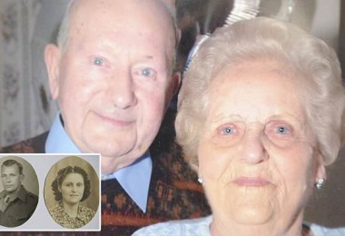 Joyce and Frank Dodd who died on the same day when hospital staff moved their beds side by side so they could hold hands one last time. See National copy NNCOUPLE: An elderly couple died on the same day when hospital staff moved their beds side by side so they could hold hands one last time. Joyce and Frank Dodd who had been devoted to each other for 77 years clasped hands one last time at Darent Valley Hospital in Dartford, Kent, before both passing away. Frank, 96, and Joyce, 97, from Gravesend in Kent, fell in love when they were teenagers and were married for nearly eight decades. They had five children, 12 grandchildren, 10 great-grandchildren and two great-great-grandchildren.