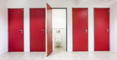 In an public building are womans toilets; Shutterstock ID 464921282
