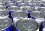 Energy Drinks Cans close-up; Shutterstock ID 65983291