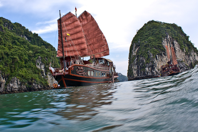 Red Dragon Junk in Halong Bay