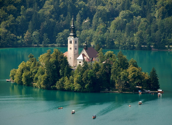 Bled Island from Bled Castle